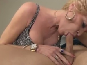 Mature blonde nikki sixxx sucks young dude