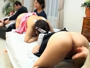 Granny japanese maid enjoying her pussy screwed