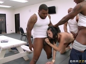 three black dicks for this milf