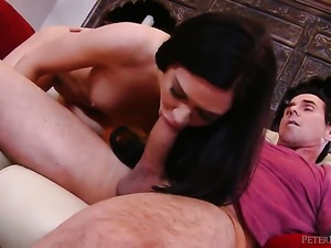 Kendall Karson makes Peter North happy by blowing his stiff love wand