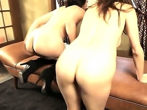 Luscious stunners with hot bodies Princess Donna and Bobbi Starr seduce a...