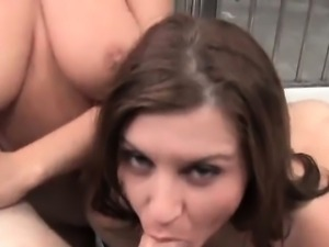 2 hot prisoners Jessica Moore and Sara Stone fucking and suc