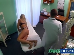FakeHospital Dizzy young blonde takes a creampie and starts to fall for the...