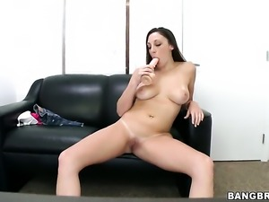 Melanie Hicks gets down and dirty in cum flying sex action