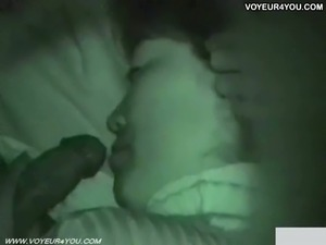 Japanese voyeur caught couple at night