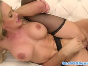 Squirting MILF Brandi Love dick riding with enthusiasm