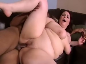 Fat Caucasian whore sucks BBC deepthroat and fucks