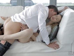 Stella Cox is his sweet leggy girlfriend who needs sex badly. Attractive...