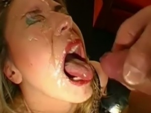 German skank serves as cum bucket