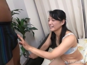 mature asian whore sucks a black cock