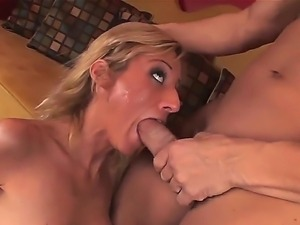 Busty blonde slut Regan Anthony gets huge cock fucking her brains out in...