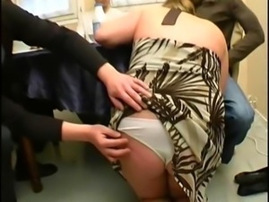 French bbw Christine gang banged inter racially