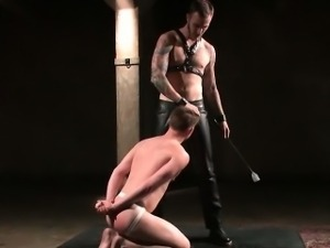 Dakota Wolfe bent for a flogging