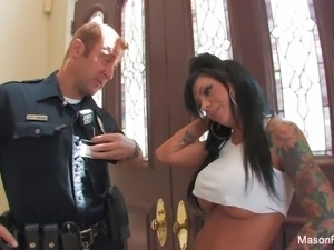 Mason Moore gets fucked hard by a cop