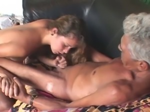 Never seen this before - Old Man,Teen and Dildo