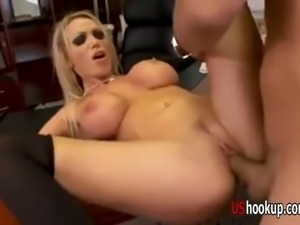 Nikki Benz gets boned on a desk