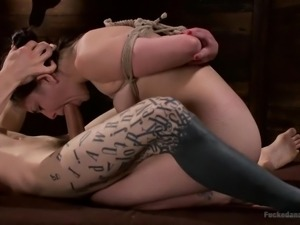 tied and obedient cutie being stuffed with dick