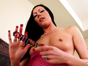 Jade fucks herself with dildo on camera for your viewing entertainment