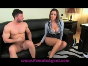 FemaleAgent Massive cumshot across marvellous tits free