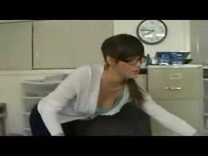 Office girls gets caught stealing and then gets fucked like a super whore!...