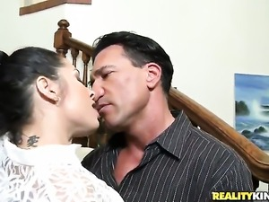 Marco Banderas puts his dick in hot bodied Monica Santhiagos mouth before...