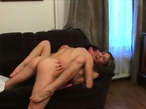 Adorable hottie acquires hot fucking lesson