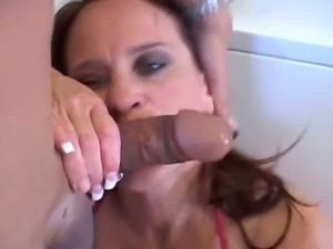 Redhead milf gives head and gets pounded hard