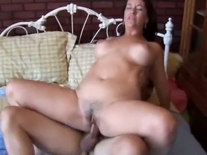 Mature lady Sandy slammed and facialized