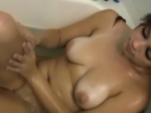 Filming My Busty Girlfriend While Naked In Bath
