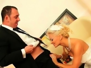 Sexy blonde bride goes crazy part2