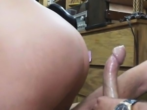 Big Titty Cop Getting Banged On Desk In A Pawn Shop