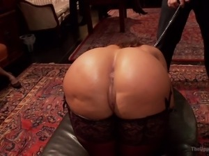 blonde humiliated at the upper floor