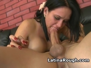 Latina Slut Pukes In A Bowl During Rough Face Fucking