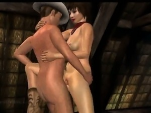 Hot 3D cartoon brunette babe gets fucked in a barn