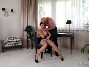 short haired milf gets her boobs oiled up @ amazing tits #03