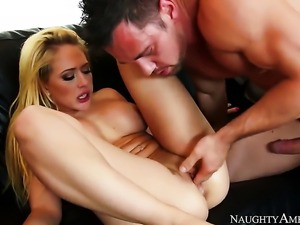 Kagney Linn Karter satisfies her sexual desires with hard dicked guy Johnny...