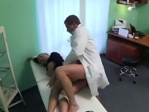 Hot blonde patient getting fucked by her doctor