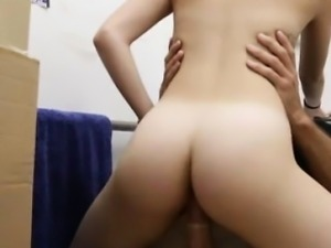 Pawnshop amateur doggystyle fucked