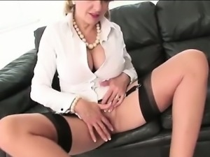 Lady Sonia enjoys rubbing herself