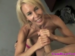Granny handjob teacher amateur facialized