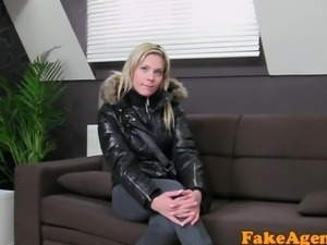 FakeAgent Bar girl looking for porn career