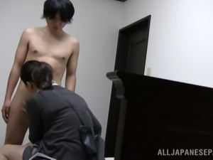 mature lady teaches him sex
