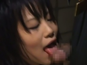Japanese slave have to obey her horny master