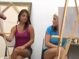 Art class cant concentrate because cock