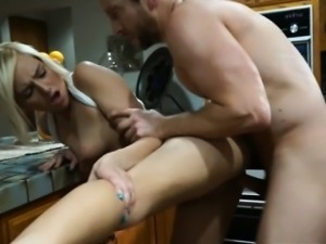 Pretty Kate England banged and creampied by nasty dude