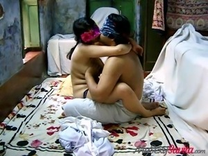 indian couple embrace and fuck