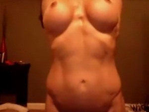 Fit girl teases and plays on cam
