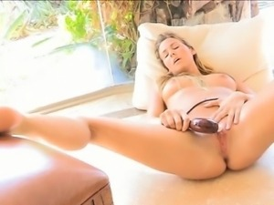 Sex-toy in her juicy holes
