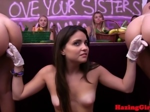 Shy sorority babes fingerfucks coeds