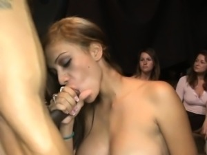 Cute darling is riding on one-eyed monster during lusty show